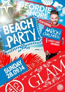 cardiff freshers tickets geordie shores aaron chalmers at glam nightclub