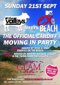 cardiff freshers tickets official moving in part at glam nightclub with ex on the beach and mtv the valleys