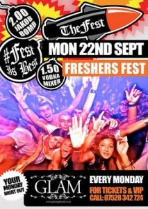 cardiff freshers tickets the freshers fest at glam nightclub