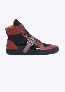 vivienne westwood high top trainers in brown