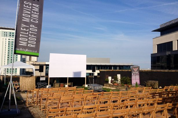 Motley Movies rooftop cinema in Cardiff