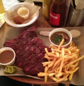 hangfire smokehouse flat iron steak