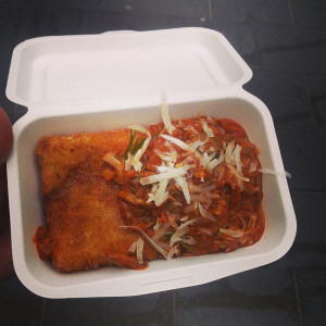 Jols food ragu and potato cake