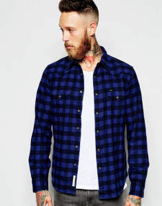 lee-blue-checked-shirt