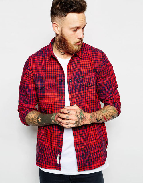 lee-worker-red-checked-shirt