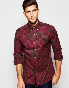 Polo Ralph Lauren Shirt with Tartan Check Slim Fit
