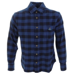 VIVIENNE WESTWOOD CHECKED SHIRT BLUE