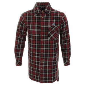 VIVIENNE WESTWOOD GIANT CHECKED SHIRT RED