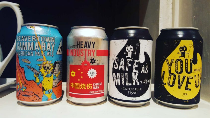 crafty devils brewing craft ale cans from Cardiff bottle shop