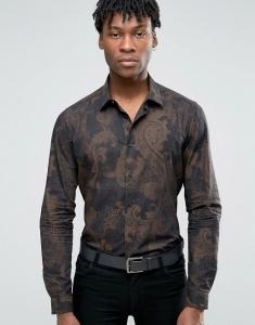 Devils Advocate Formal Printed Slim Fit Shirt