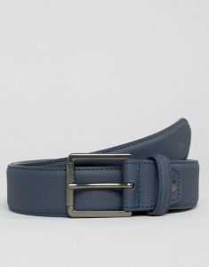 Lacoste Pique Belt In Navy