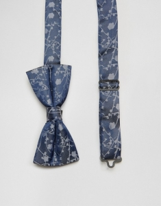 Noose & Monkey Bow Tie in Blue