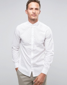 Selected Homme Long Sleeve Smart Shirt with Button Down Collar
