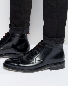 Ted Baker Baise Leather Lace Up Boots