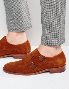 Ted Baker Kartor Suede Monk Shoes