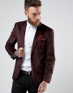 Devil's Advocate Textured Velvet Blazer