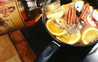 mulled cider and spiced rum recipe