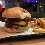 the holy fecking moley burger at Time & Beef Cardiff