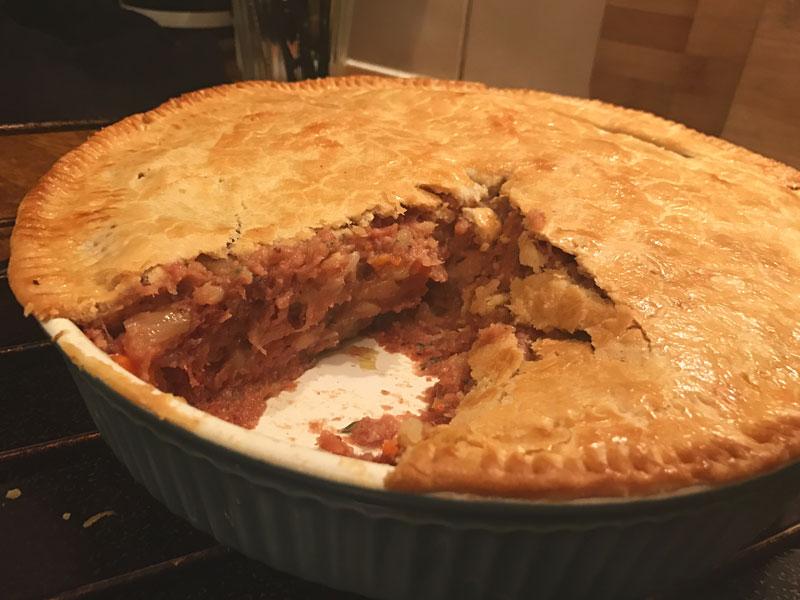 corned beef pie