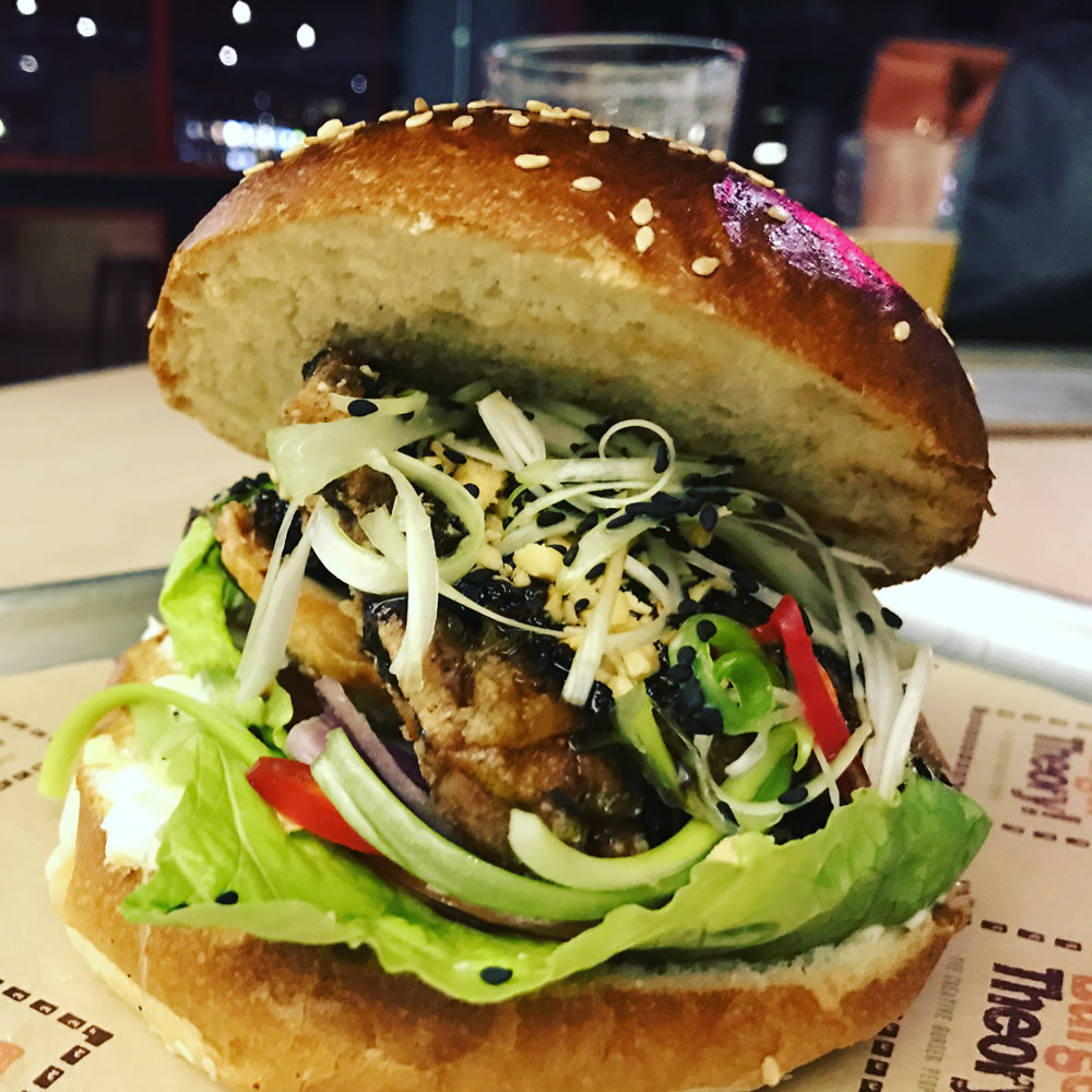 Korean Fried Chicken burger from Burger Theory at Kongs Cardiff