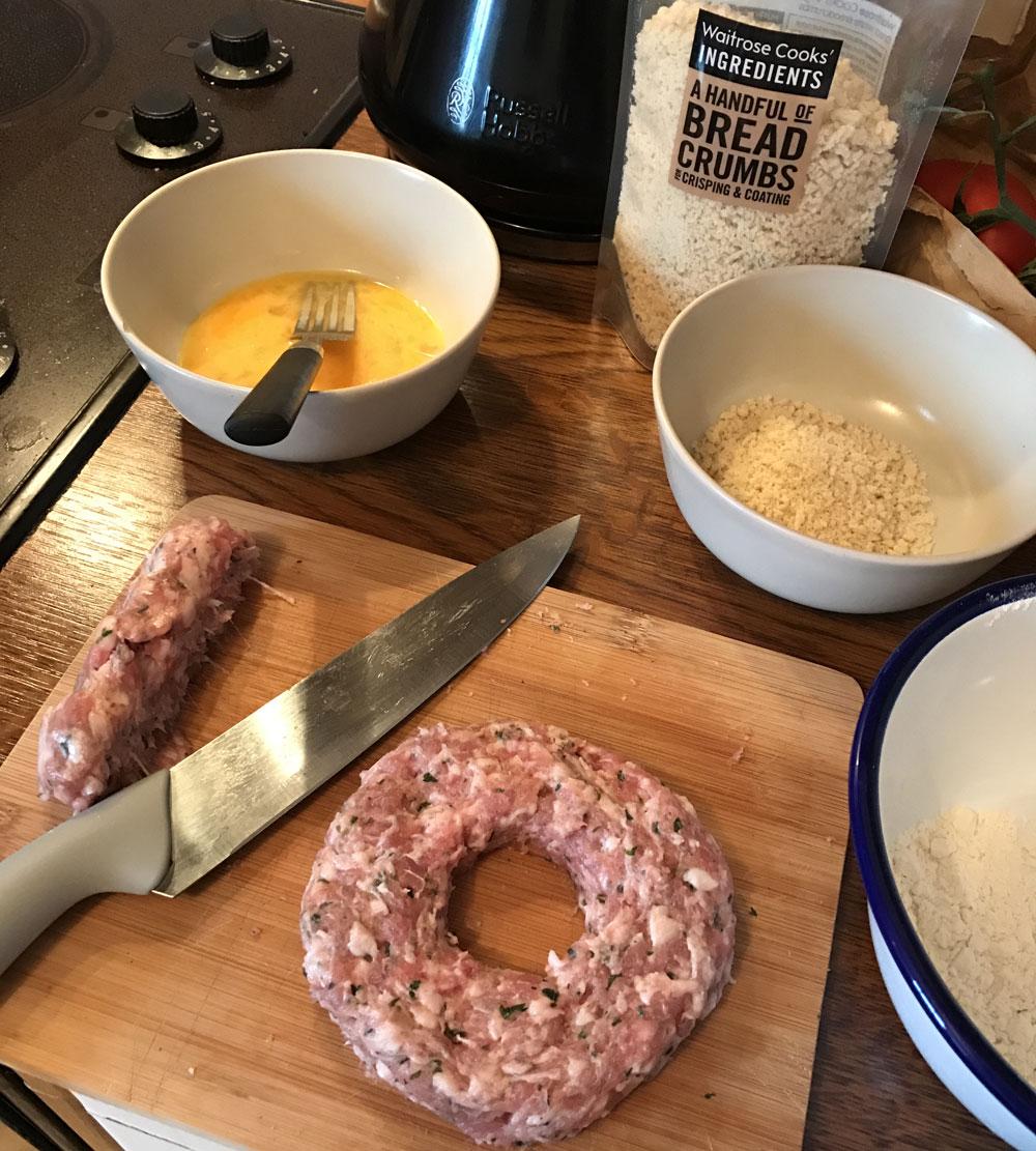 homemade pan fried scotch egg recipe