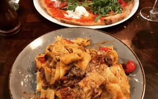 Pizza and pasta at Porro Italian Restaurant Lllandaff, Cardiff