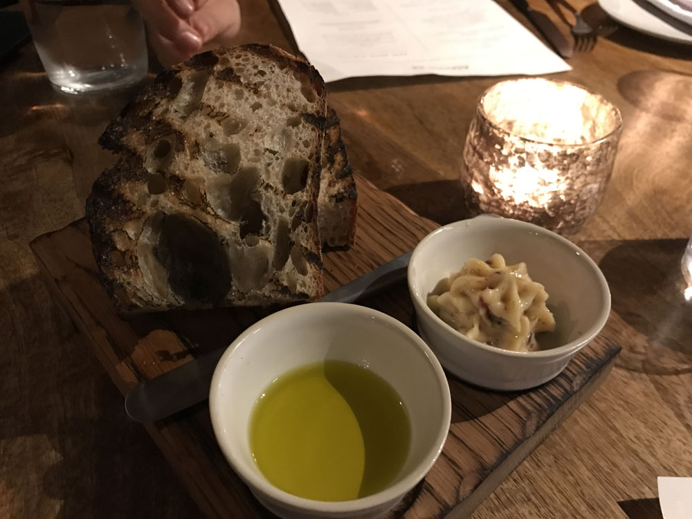 Bread and jamon butter at Asador 44 Cardiff