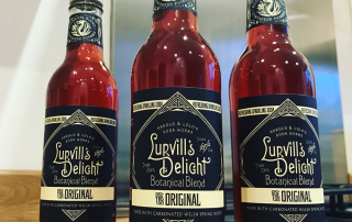 Lurvills Delight carbonated botanical Welsh Water drink