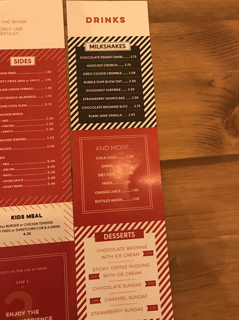 sides menu