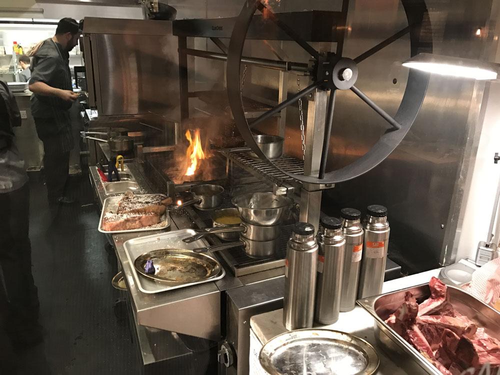 Parilla grill at Asador 44 Cardiff