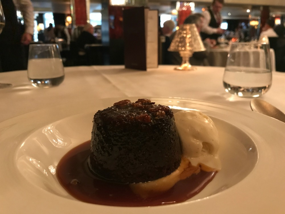 Sticky toffee pudding dessert at Savoy Grill Restaurant-2