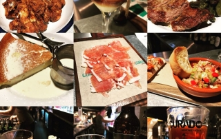 food collage for Curado Cardiff