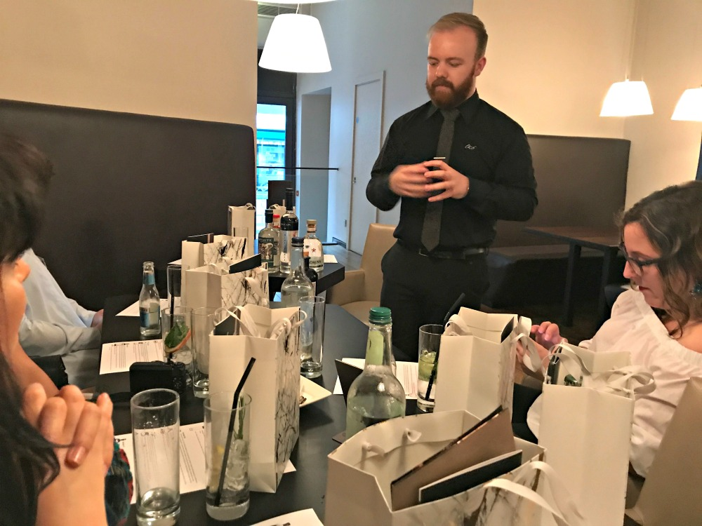 Cardiff park plaza gin tasting with Adam