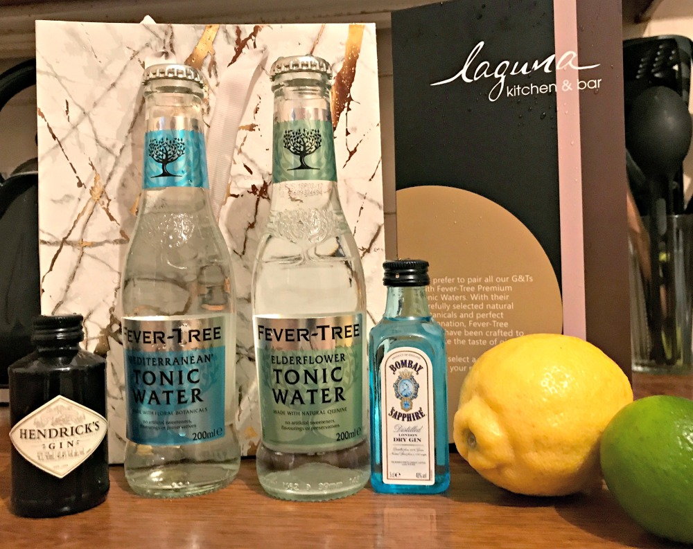 Gin goody bag from Cardiff Park Plaza