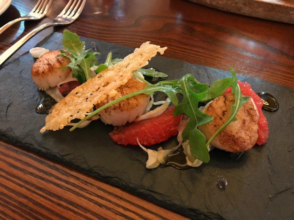 scallops and grapefruit starter Chapel Cardiff