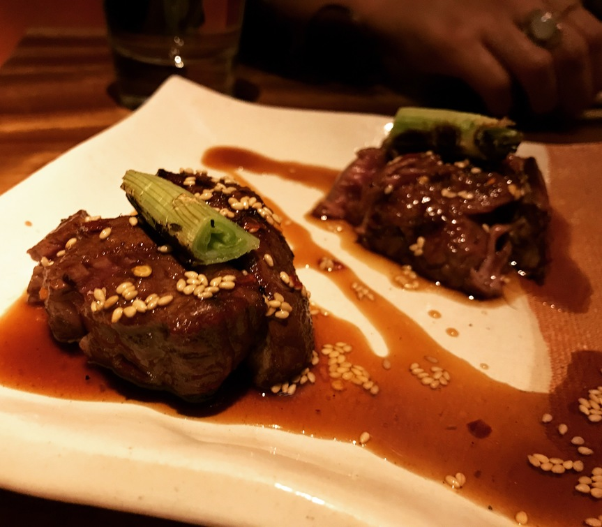 Spicy beef tenderloin Zuma Rome