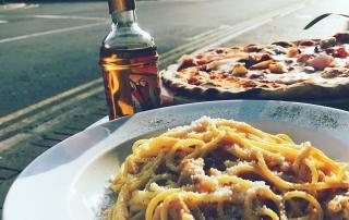 Carbonara and Pizza Calabrisella Cardiff