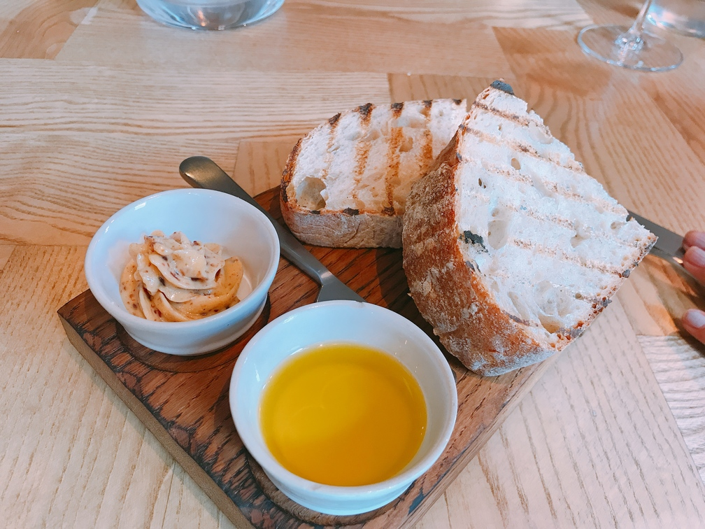 charred bread and jammon butter Asador 44 Cardiff