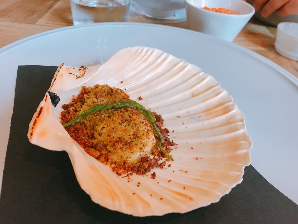 baked scallops and samphire Asador 44 Cardiff