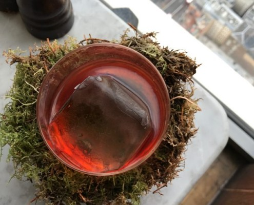 woodland negroni at duck and waffle