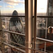 42nd Floor of Duck and Waffle Restaurant London