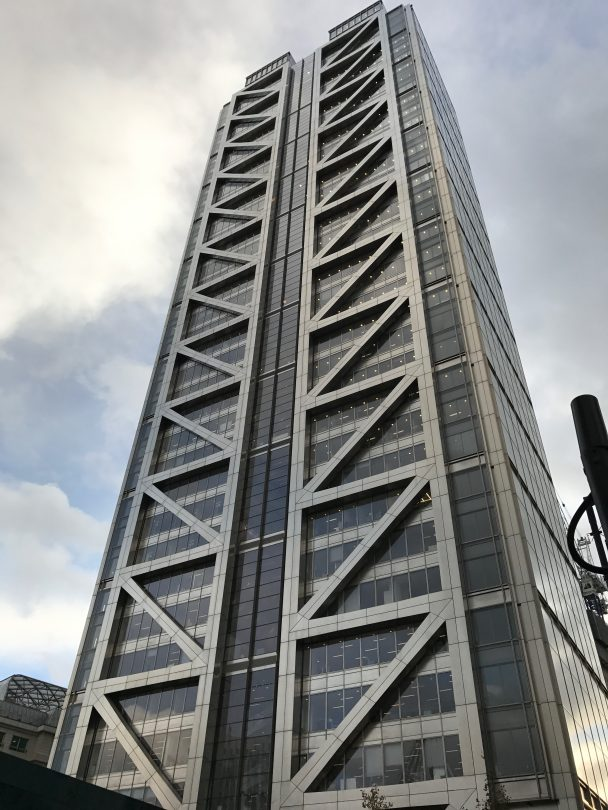 Outside of the duck and waffle building