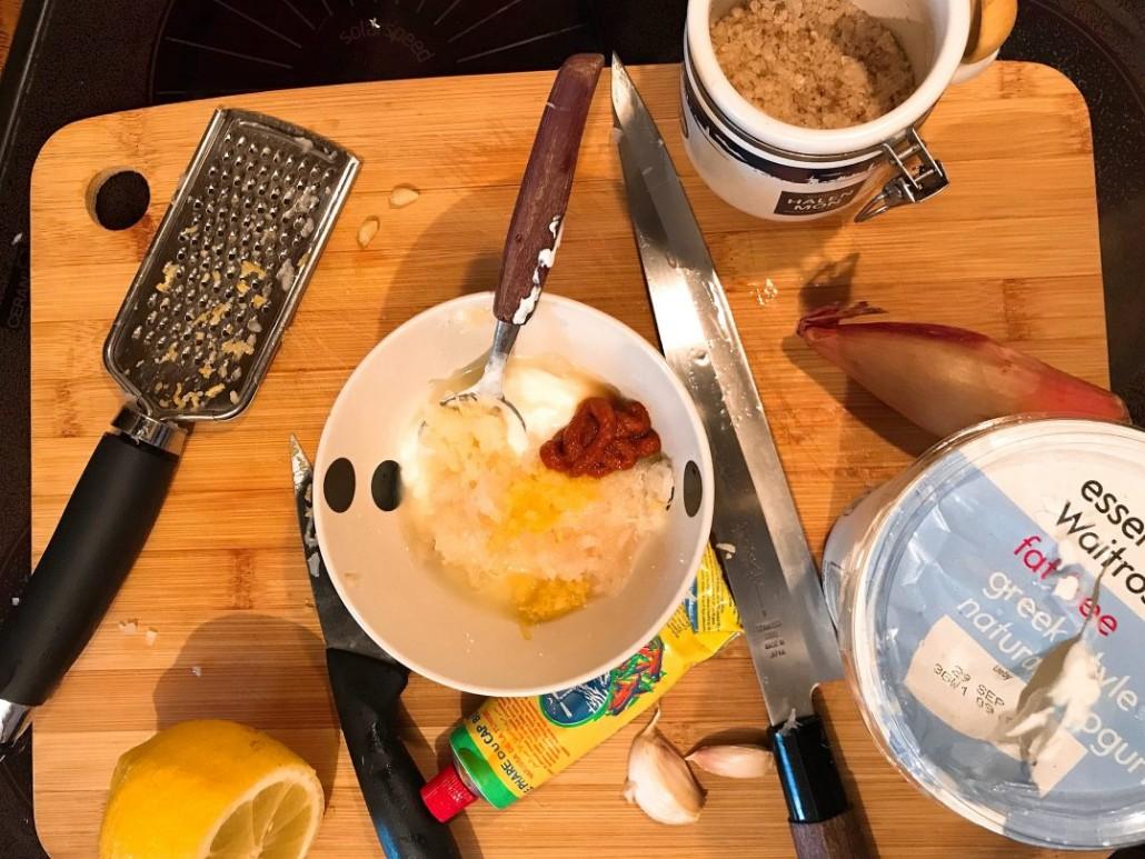 homemade harissa marinade