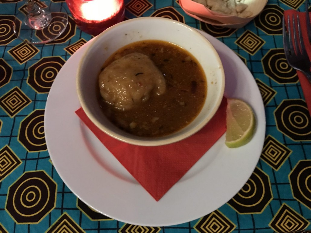 oxtail soup at ChamChm supper Club Cardiff