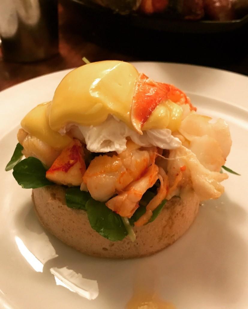 Lobster Benedict at Hawksmoor Guildhall
