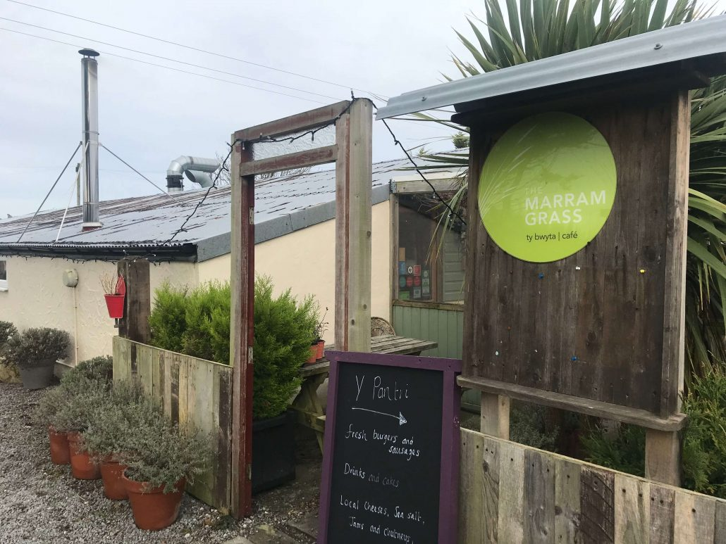 The outside of The Marram Grass Restaurant in Anglesey