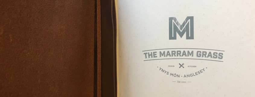 Menu at The Marram Grass in Anglesey