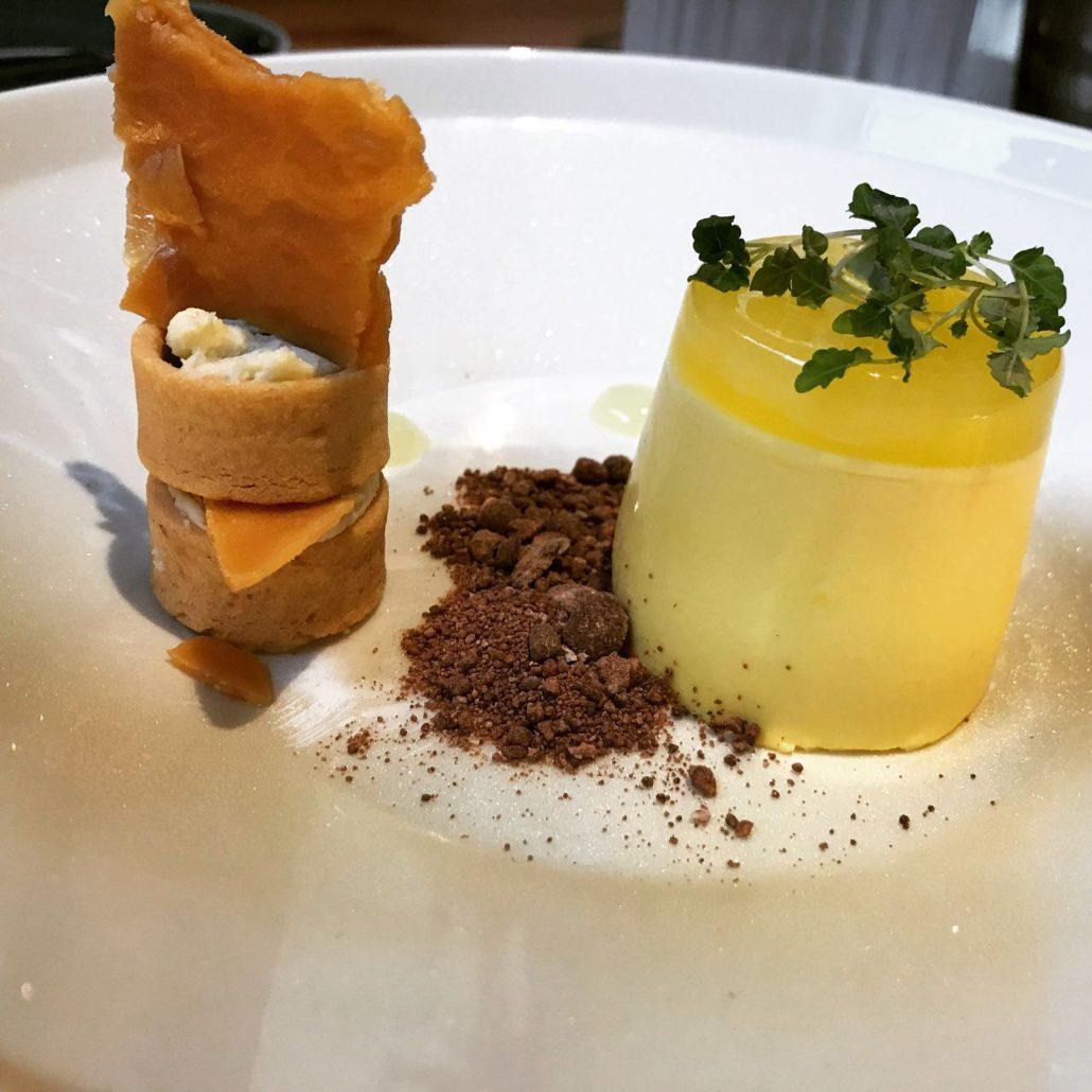 Yuzu panna cotta dessert at The Marram Grass