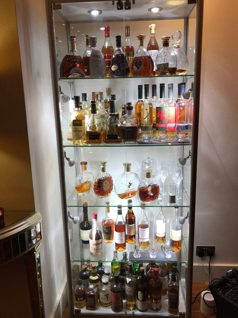 Japanese Whisky Cabinet at Mulberry Bar Celtic Manor