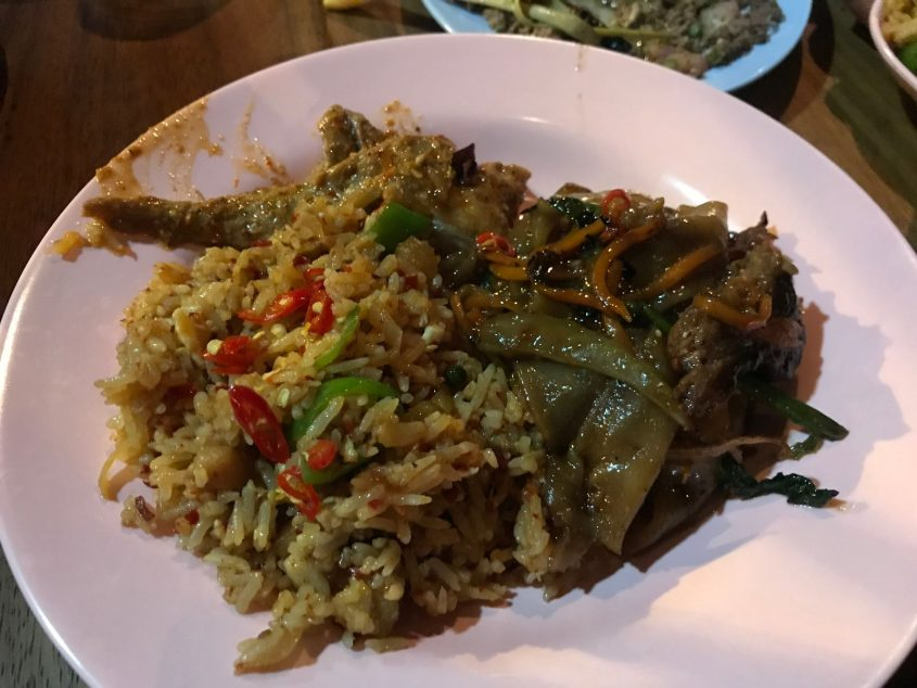 lardo fried rice goat massamam and smoked brisket drunken noodles smoking goat shoreditch